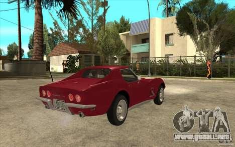 Chevrolet Corvette Stingray para la visión correcta GTA San Andreas