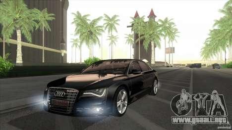 Audi S8 2012 para la visión correcta GTA San Andreas