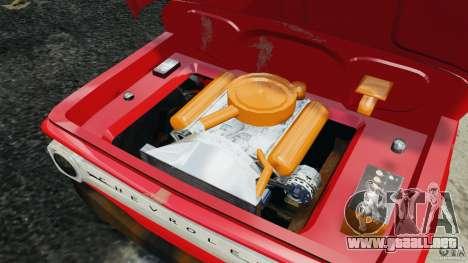 Chevrolet C20 Towtruck 1966 para GTA 4 vista lateral