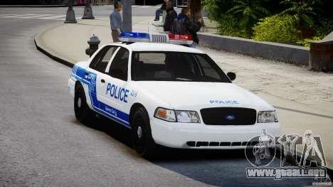 Ford Crown Victoria CVPI-V4.4M [ELS] para GTA 4 visión correcta