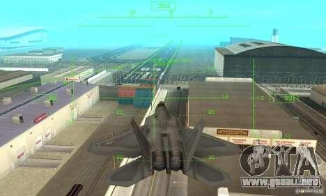 F-22 Grey para vista inferior GTA San Andreas