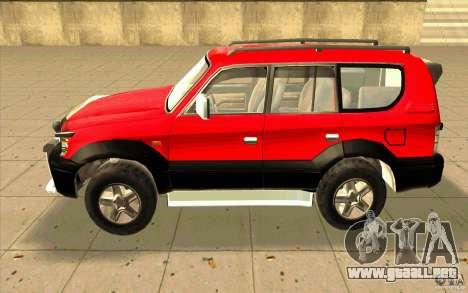 Toyota Land Cruiser Prado para GTA San Andreas vista posterior izquierda