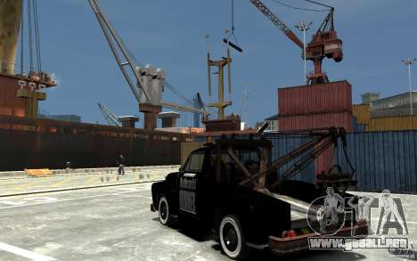 Black Towtruck para GTA 4 Vista posterior izquierda