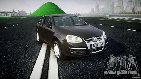 Volkswagen Jetta 2008 para GTA 4 vista hacia atrás