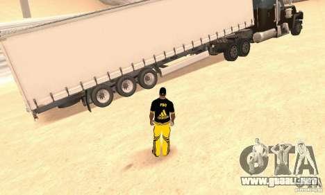 Krone Trailer para GTA San Andreas vista posterior izquierda