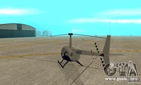 Robinson R44 Raven II NC 1.0 piel 4 para la visión correcta GTA San Andreas