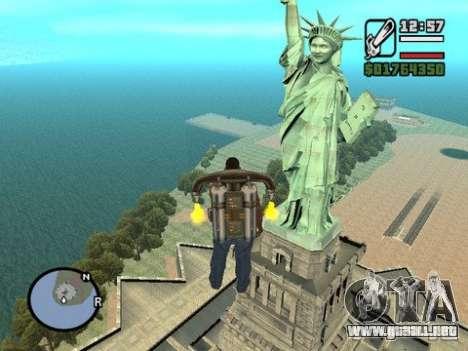 La estatua de la libertad para GTA San Andreas segunda pantalla