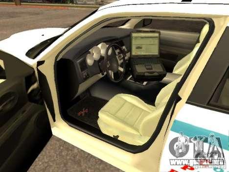 Dodge Charger Police NYPD para GTA San Andreas vista posterior izquierda