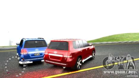 Toyota Land Cruiser 200 RESTALE para GTA 4 vista lateral
