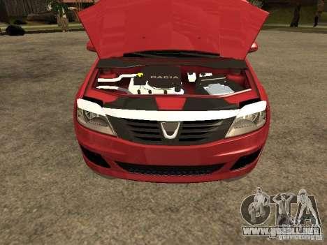 Dacia Logan Rally Dirt para la visión correcta GTA San Andreas