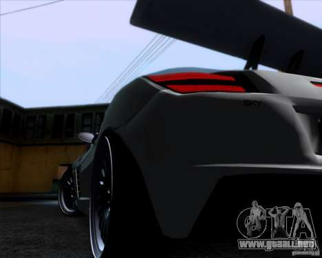 Saturn Sky Roadster para GTA San Andreas vista hacia atrás