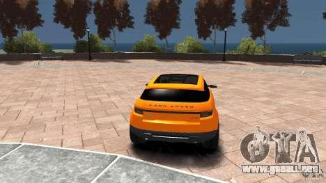 Range Rover LRX 2010 para GTA 4 Vista posterior izquierda
