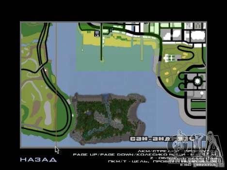 Isla tropical para GTA San Andreas décimo de pantalla