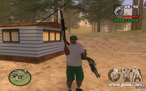 Double weapons para GTA San Andreas tercera pantalla