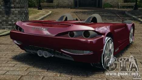K-1 Attack Roadster v2.0 para GTA 4 Vista posterior izquierda
