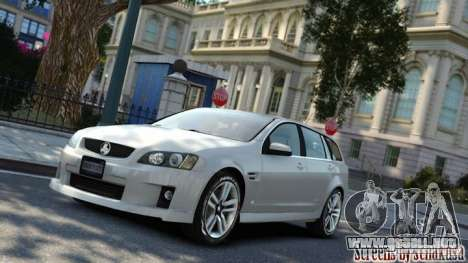 Holden VE Commodore Sportwagon SS 2009 para GTA 4 left
