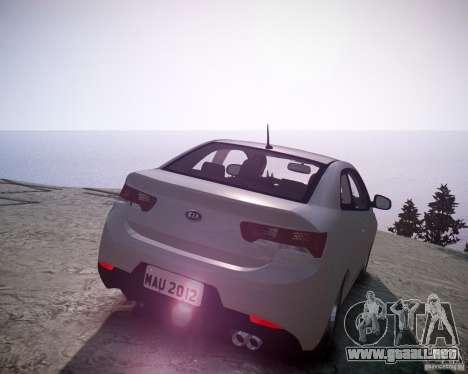 Kia Cerato Koup 2011 para GTA 4 Vista posterior izquierda
