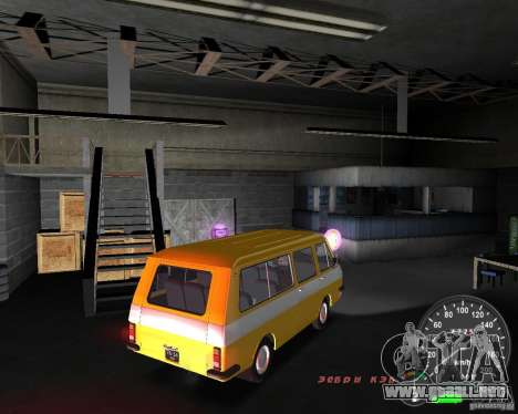 RAF 2203 para GTA Vice City vista lateral izquierdo