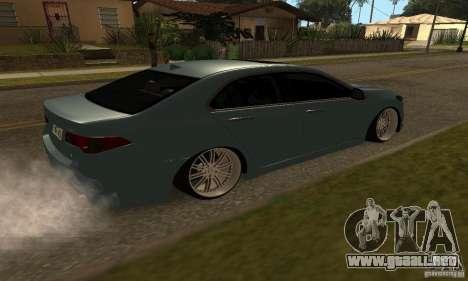 Acura TSX 2010 para GTA San Andreas left