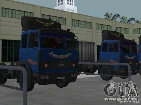 MAZ 5432 YAMZ-238b 4 x 2 para visión interna GTA San Andreas