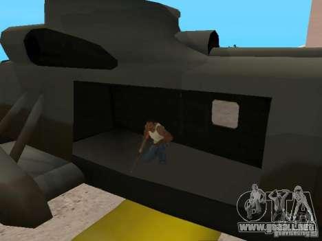 Enterable Leviathan para GTA San Andreas vista hacia atrás