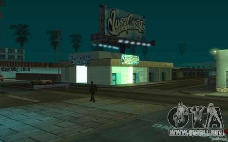 west coast coustoms para GTA San Andreas