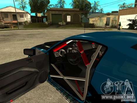Ford Mustang Drag King para GTA San Andreas vista hacia atrás