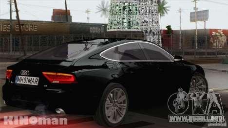 Audi A7 Sportback 2010 para GTA San Andreas left