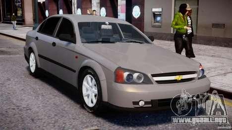 Chevrolet Evanda para GTA 4 vista superior