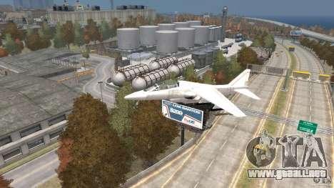 Liberty City Air Force Jet para GTA 4 visión correcta