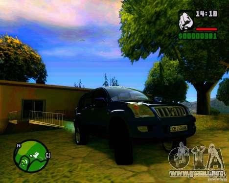 Toyota Land Cruiser Prado 120 para GTA San Andreas vista hacia atrás