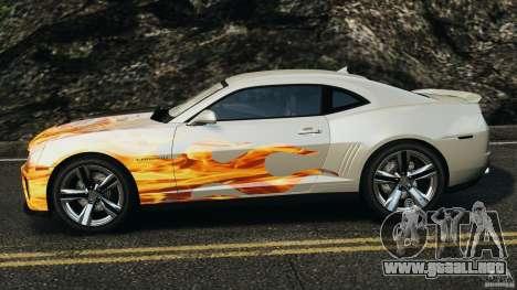Chevrolet Camaro ZL1 2012 v1.0 Flames para GTA 4 left