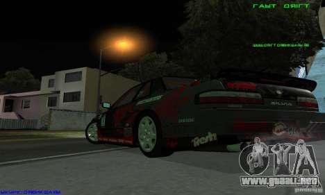 Nissan Silvia S13 Tunable para visión interna GTA San Andreas