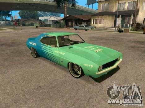 Chevrolet Camaro Falken 1969 para GTA San Andreas left