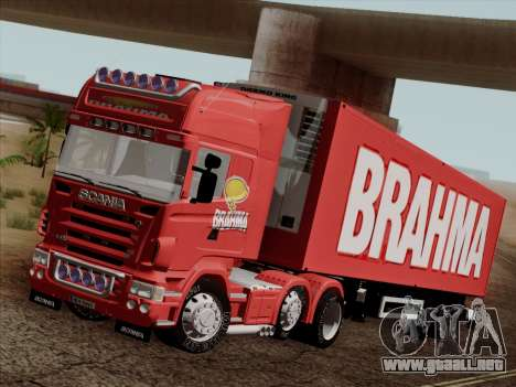 Scania R620 Brahma para vista inferior GTA San Andreas