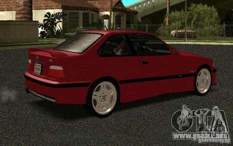 BMW E36 M3 1997 Coupe Forza para la visión correcta GTA San Andreas