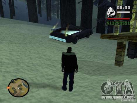 GhostCar para GTA San Andreas sucesivamente de pantalla