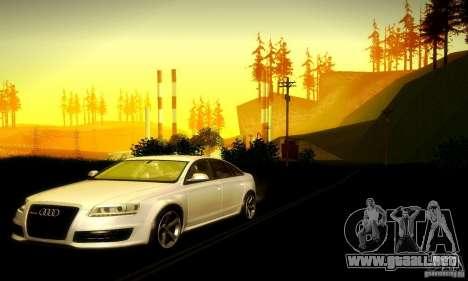 Audi RS6 TT para GTA San Andreas vista hacia atrás