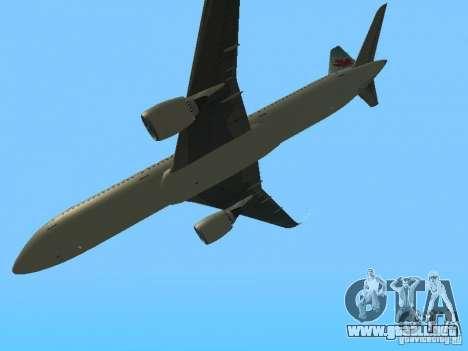 Boeing 787 Dreamliner Air Canada para visión interna GTA San Andreas