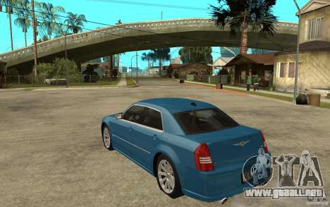 Chrysler 300C 6.1 SRT-8 2007 para GTA San Andreas vista posterior izquierda