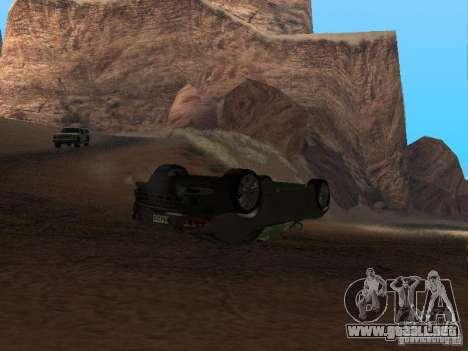 No te quemes coches volcados para GTA San Andreas segunda pantalla