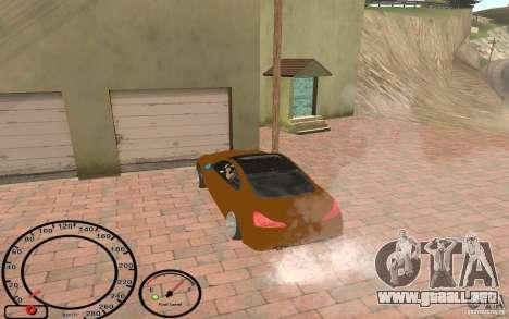 Infiniti G37 Vossen para GTA San Andreas vista hacia atrás