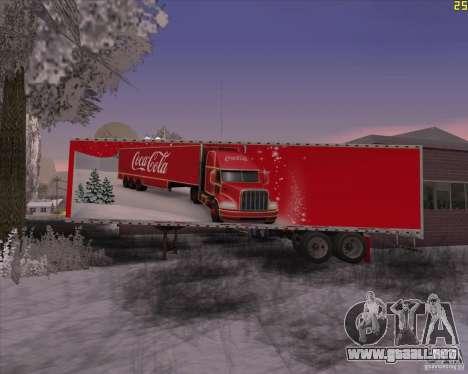 El remolque para el remolque de Coca Cola para GTA San Andreas