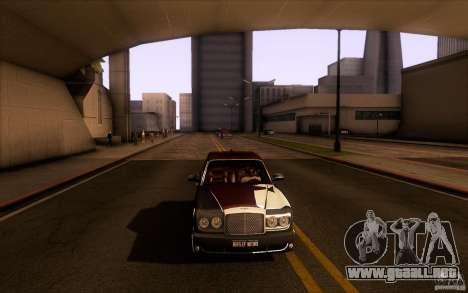 Bentley Arnage R 2005 para vista lateral GTA San Andreas