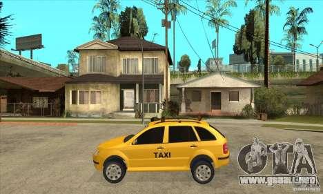 Skoda Fabia Combi Taxi para GTA San Andreas left