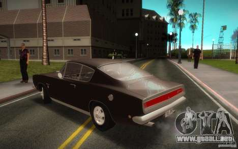 Plymouth Barracuda Formula S para GTA San Andreas left