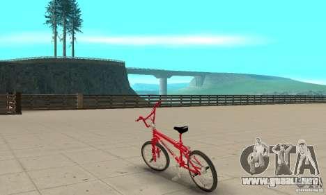 Noxon Jump Bmx para GTA San Andreas vista posterior izquierda