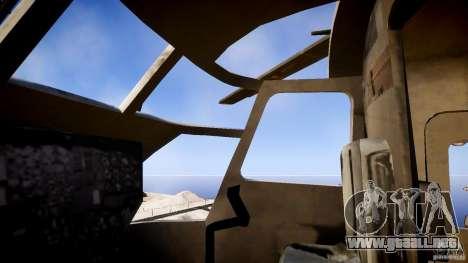 MH-53 Pavelow v1.1 para GTA 4 vista hacia atrás
