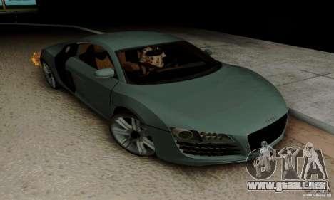Audi R8 LeMans para vista lateral GTA San Andreas
