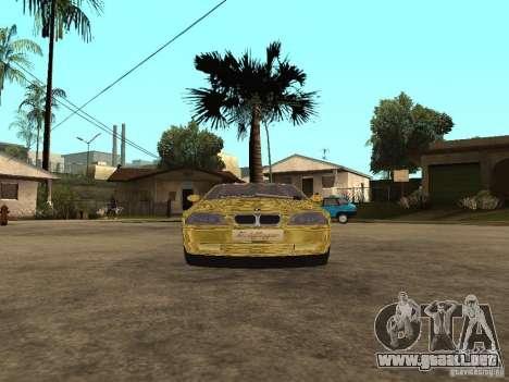 BMW M3 Goldfinger para GTA San Andreas vista posterior izquierda